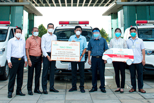 HUNG THINH CORPORATION CONTINUES TO SUPPORT NEARLY VND 11 BILLION TO ACCOMPANY MANY PROVINCES AND CITIES TO FIGHT AGAINST THE COVID-19 PANDEMIC