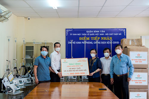 HUNG THINH CORPORATION CONTINUES TO SUPPORT NEARLY VND 9 BILLION TO ACCOMPANY HO CHI MINH CITY IN COVID-19 PANDEMIC PREVENTION AND CONTROL
