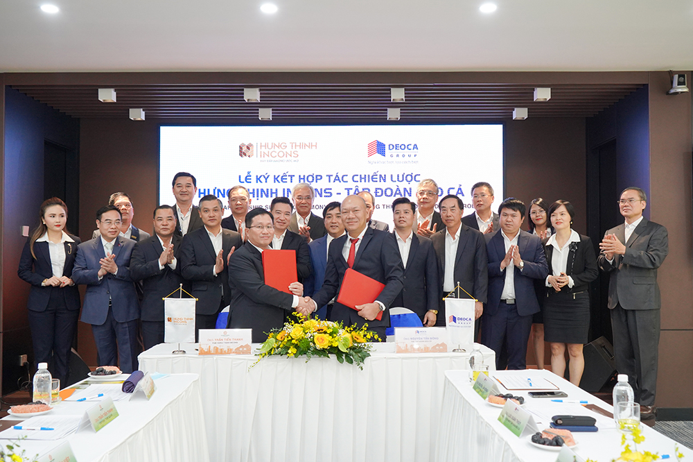 HUNG THINH CORPORATION AND HUNG THINH INCONS GROUP SIGN A STRATEGIC COOPERATION WITH DEOCA GROUP